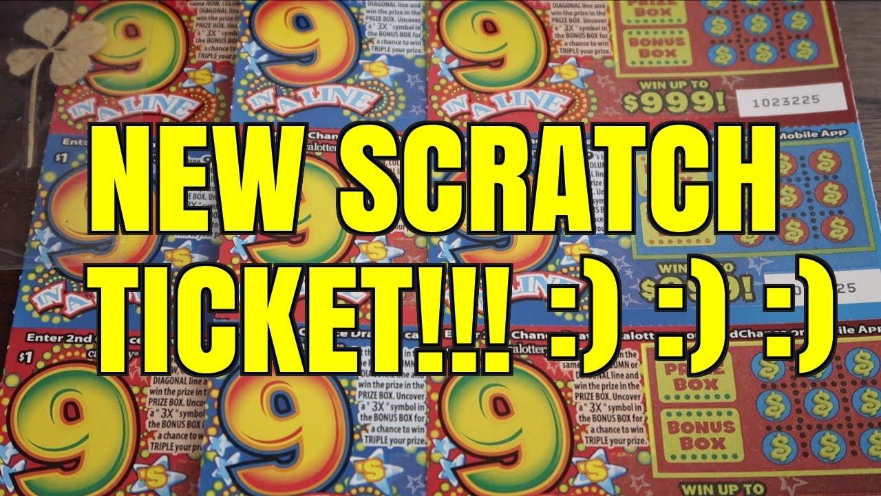 BRAND NEW $1 CALIFORNIA LOTTO SCRATCHER! 9 In A Line Ticket