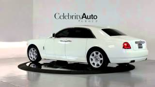 "2011 Rolls Royce Ghost White/tan Rear Theatre 20"" Wheels Picnic Tables Pano Roof Camera System"