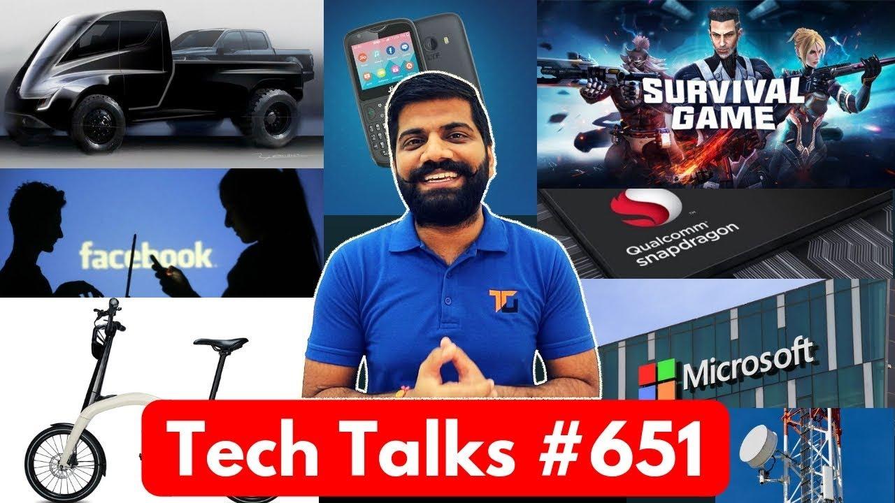 Tech Talks #651 - Xiaomi Survival Game, Spinal Implants, Facebook Messages Leak, Tesla PickUp Truck