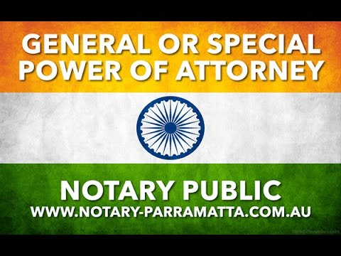 Power of Attorney for India - 2017
