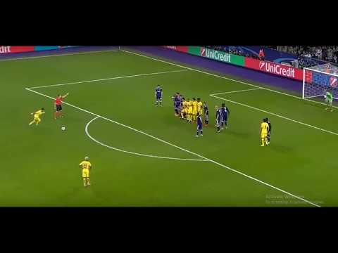Neymar Brilliant Free Kick vs Anderlecht     Champions League   18  10  2017