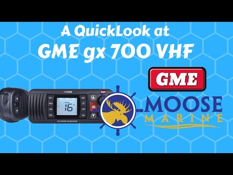 GME GX700 VHF Radio QuickLook with Moose - Moose Marine