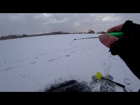Ловля окуня зимой на ЧЕРТА. Ловля на безнасадку. Зимняя рыбалка 2018