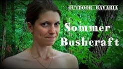 Vanessa Solotour - Sommerbushcraft-Waldlager & Wildpflanzen - Baden im Bach - Vanessa Blank