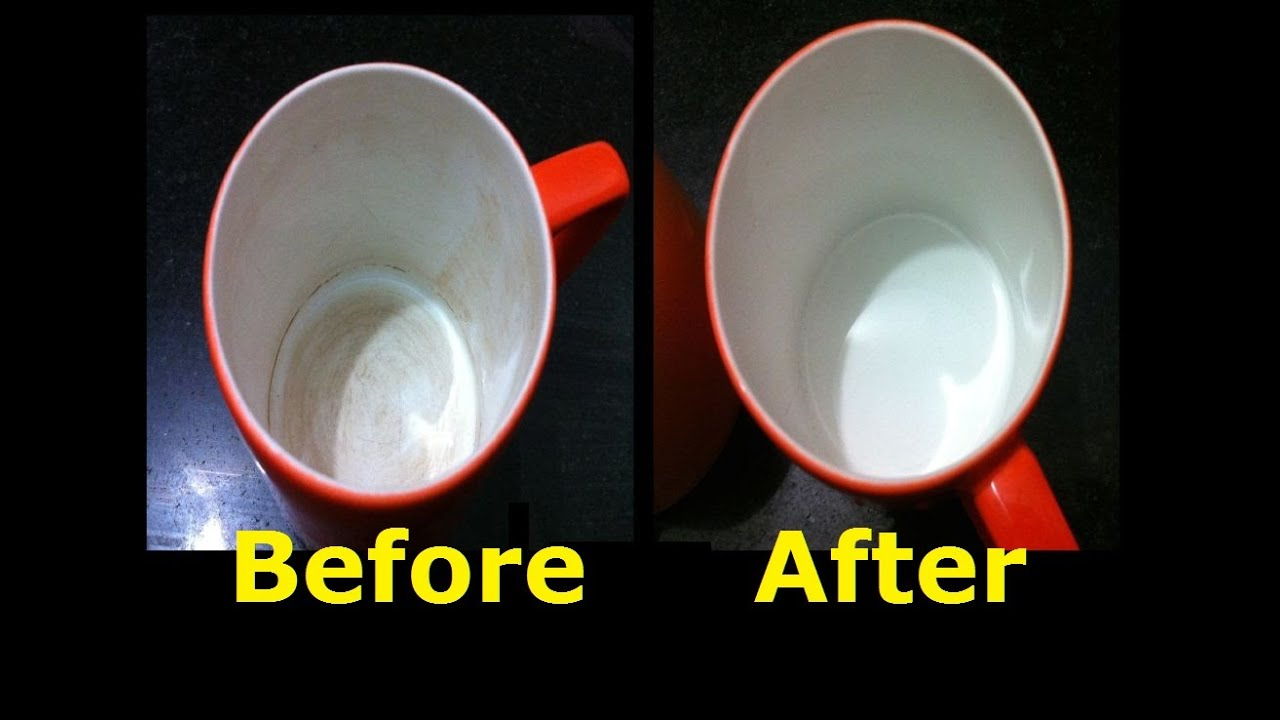 How To Remove Coffee Stains >> Clean Tea Coffee Stains From Mug Remove Tough Stains From ...