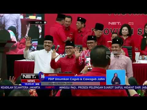 PDIP Umumkan Calon Gubernur dan Wakil Gubernur - NET16