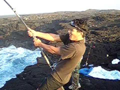 Ahiuhawaii.com Presents-Ulua Fishing on the Big Island of Hawaii. Episode 1 of......