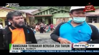 Berita Hari ini ,  Empat Rumah Adat Batak Berusia 250 Tahun Terbakar
