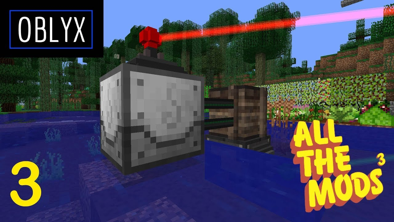 All The Mods 3 - Laser Fishing - E03