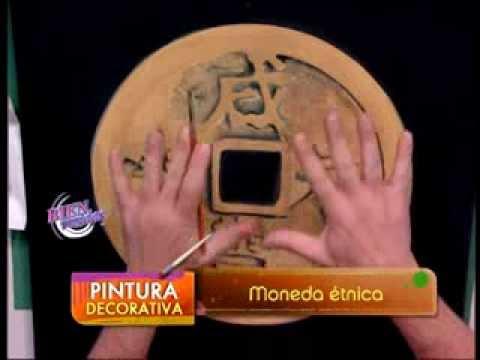 Diego Raimondo - Bienvenidas TV - Pinta un cuadro con una moneda antigua étnica de la buena suerte