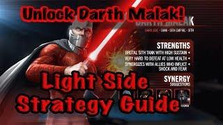 darth Malak Unlocked! Light Side Strategy Guide! 2 Zetas/No Mission  Star Forge Showdown  SWGoH