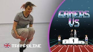 Can gamer Ashley Marie shock Bryony Page in an epic trampoline challenge | Gamers Vs.