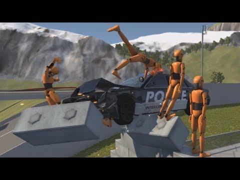 Crash Test Dummy - Stunt Jump Crashes | BeamNG.drive