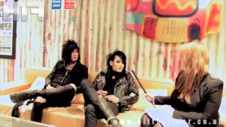 black veil brides interview with ashley, jake, and andy
