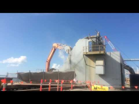 Berth 4 Upgrade project- Demolition of concrete pumping station