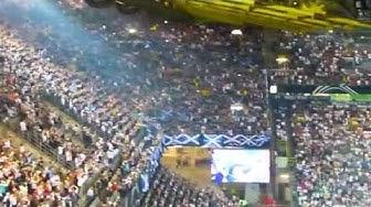 Deutschland-Schottland 2-1 Hymne Schottland vor dem Spiel 2014