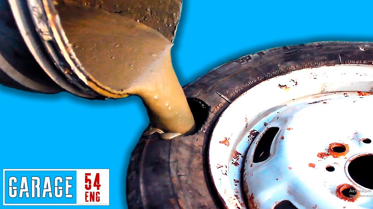 What happens when you FILL TIRES with CONCRETE?