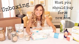 What You Should Buy For A New Mom   A Postnatal Care Package Unboxing | Nesting Story