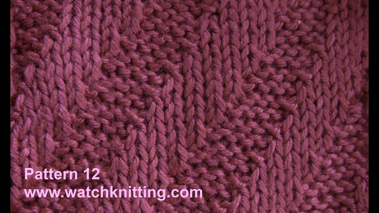 Tilt stripe stitch - Free Knitting Tutorial - Watch Knitting - pattern 12 - Y...