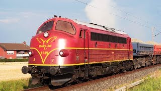 EMD F unit 567 diesel engine sound in Germany (NOHAB AA16)