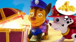 Видео для детей про игрушки Щенячий Патруль. Чейз и Маршал нашли клад?!