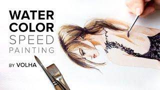 Как нарисовать девушку в кружевном платье акварелью(Где я училась рисовать - https://kalachevaschool.ru/courses?gcpc=4e9b0 http://kalachevaschool.ru/pl/39403?gcpc=4e9b0 Мой инстаграм ..., 2015-04-28T19:33:42.000Z)