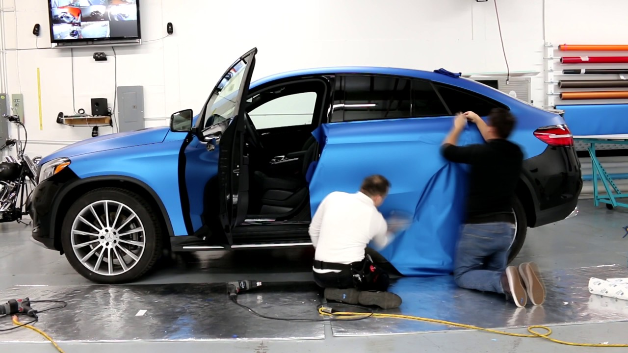 Mercedes Benz Gle 63 Amg Full Wrap In 3m 1080 Blue Matte