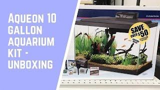 aqueon 10 gallon aquarium kit unboxing