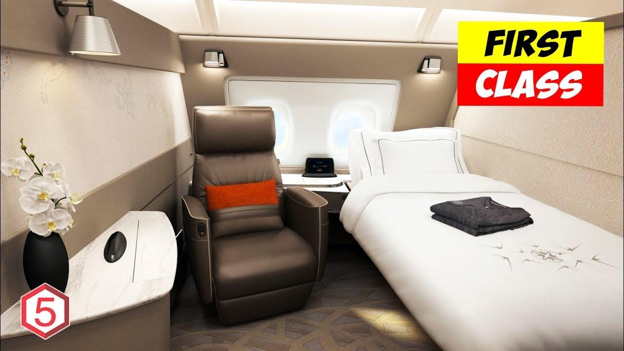 Kabin Pesawat First Class Termahal Harga Tiket Pp Rp 600 Juta Youtube