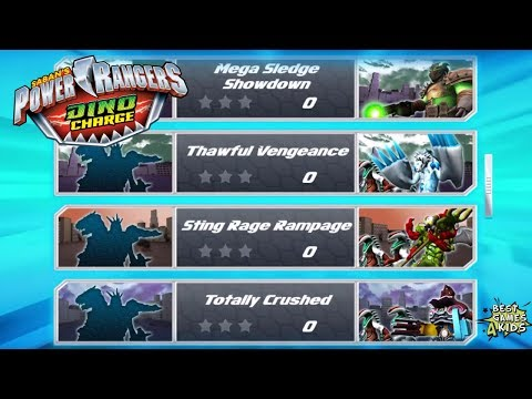 New ARENA MEGAZORD Challenges!   Power Rangers Dino Charge Rumble By StoryToys