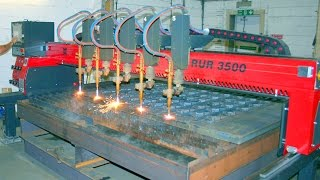 Gas flame cutting of sheet steel 40 mm, CNC