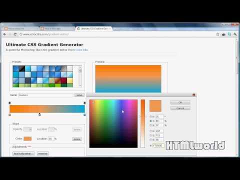 CSS3: Farbverlauf erstellen mit dem Gradient Generator [Tool