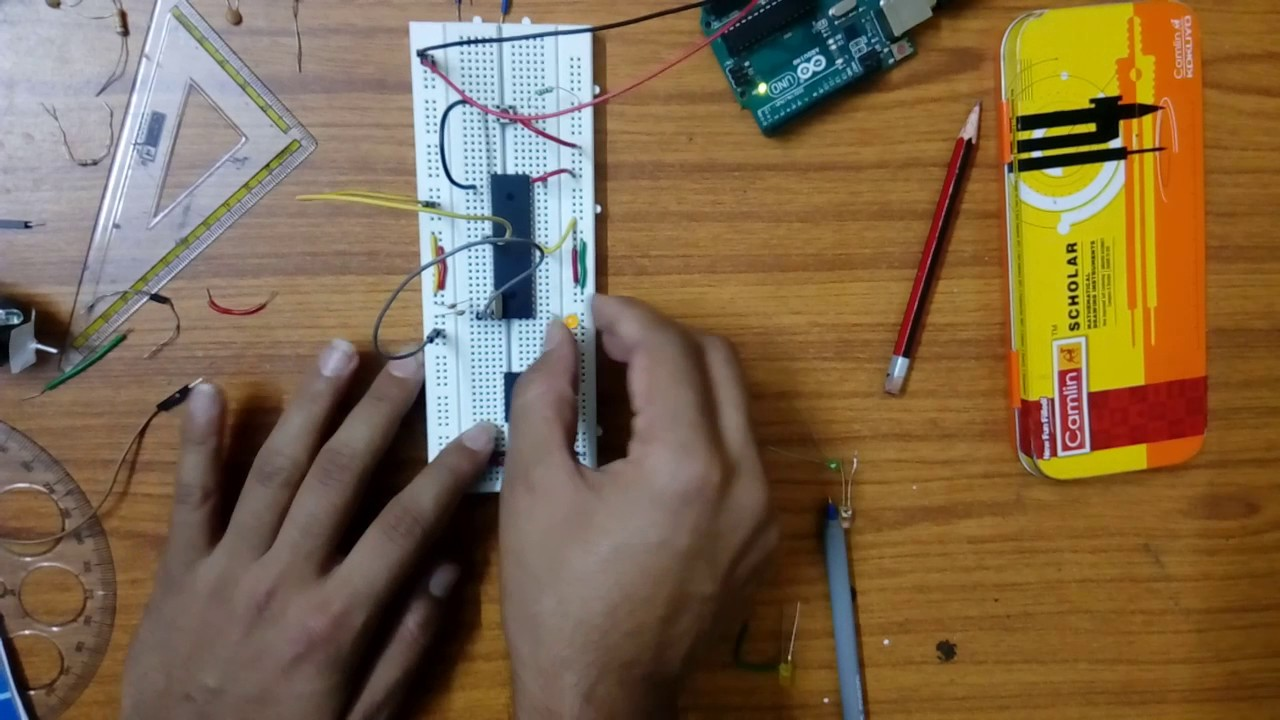 8051 Microcontroller Interfacing With Ledmotor And Switch Youtube Led Circuit
