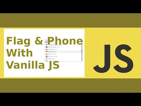 Flag And Telephone Input With Vanilla JS