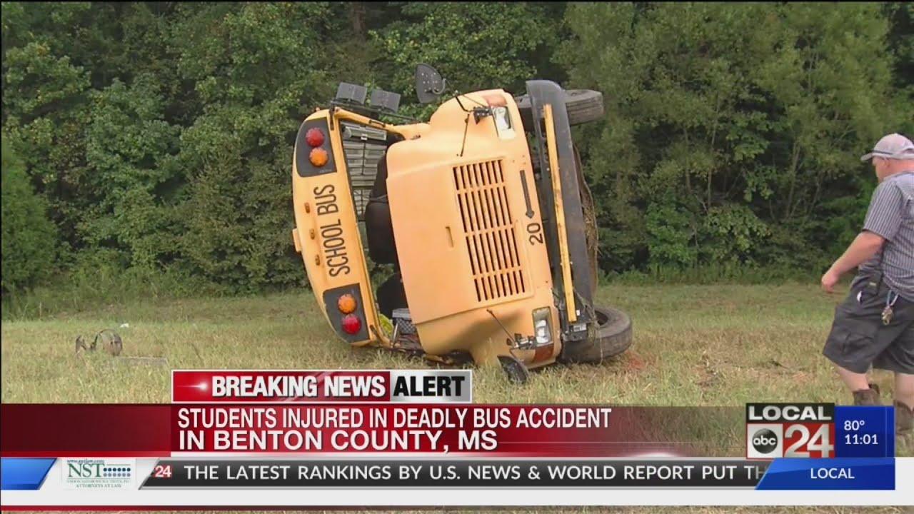 Driver dies, several injured in school bus crash in Benton County,  Mississippi