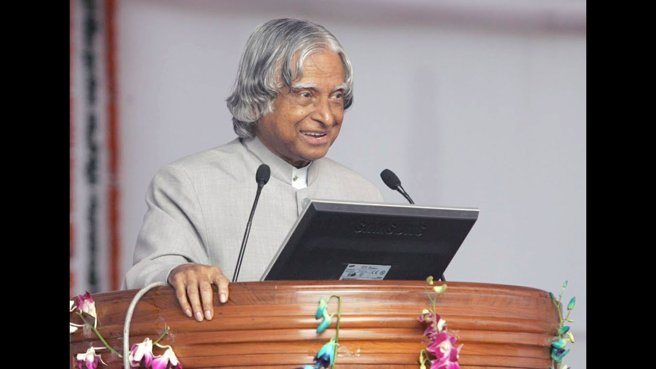 dr a p j abdul kalam s inspirational message for youth