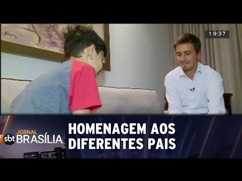 Homenagem aos diferentes pais | Jornal SBT Brasília 10/08/2018