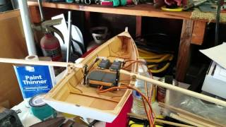 RC rowboat system test #1