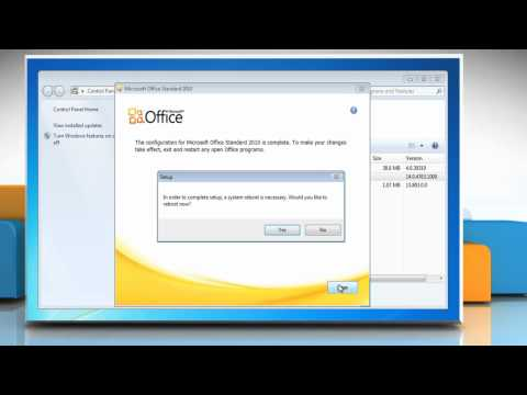 Microsoft® Office 2010: Repair installation problems on Windows® 7