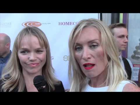 with Lauren Bowles & Victoria Smurfit stars of Homecoming