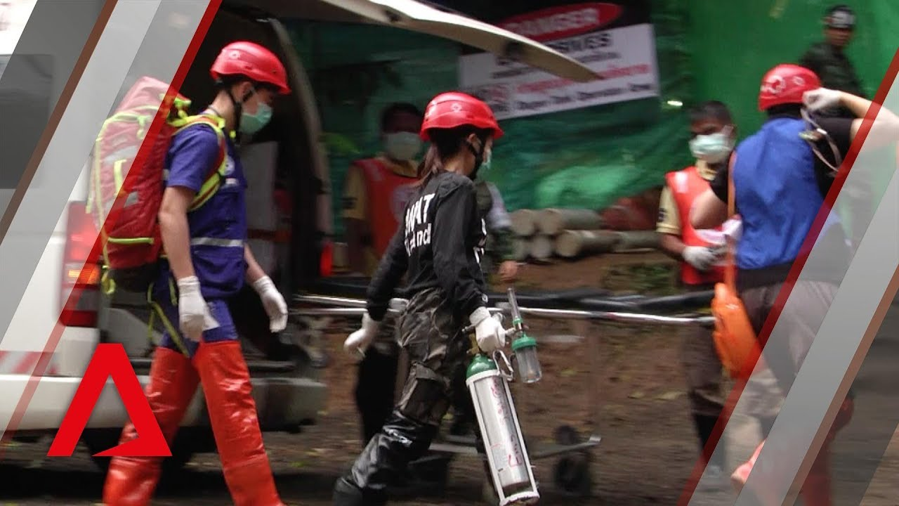 Thai cave rescue: Taking the first four boys to safety