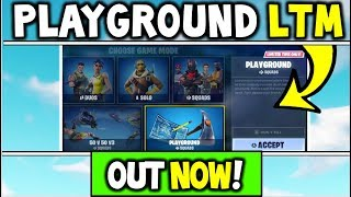 How To Get Playground LTM Early - PLAYGROUND LTM IS OUT NOW! (Fortnite Playground LTM Re-release!)