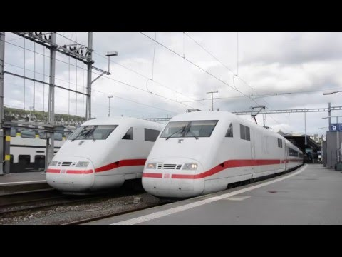 SWISS TRAINS AT ZURICH MAIN STATION