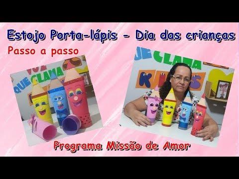 Estojo Porta-lapis Em EVA - Dia Das Crianças - Quadro Mãos Que Fazem - Missão De Amor