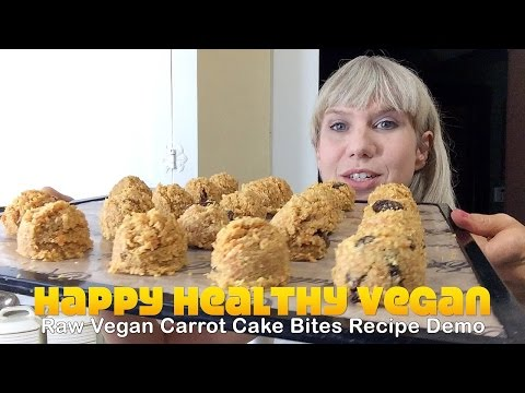 Raw Vegan Carrot Cake Bites Recipe Demo