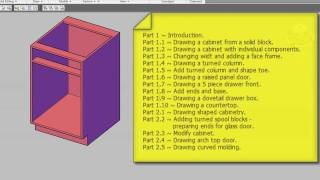 Kitchen Design Series Part 1.2 Drawing A Cabinet With Individual Components