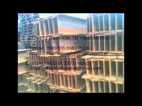 Thép hình I100, I120, I150, I198, I200, I248, I250, I298, I300,