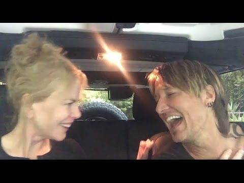 Keith Urban and Nicole Kidman do Car Karaoke
