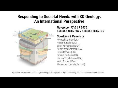 Geological Survey Organizations support societal needs: 3D geoscience - An Introduction