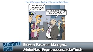 Comparative Smartphone Security - Browser Password Managers, Adobe Flash Repercussions, SolarWinds